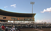Ballparks: San Antonio Municipal Stadium. Grandstand and skyboxes.