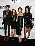 "HOLLYWOOD, CA. - September 29: Landon Pigg, Ellen Page, Drew Barrymore and Juliette Lewis arrive at the Los Angeles premiere of ""Whip It"" at the Grauman's Chinese Theatre on September 29, 2009 in Hollywood, California."