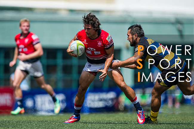 Hong Kong plays Kazakhstan during the ARFU Asian Rugby 7s Round 1 on August 23, 2014 at the Hong Kong Football Club in Hong Kong, China. Photo by Xaume Olleros / Power Sport Images