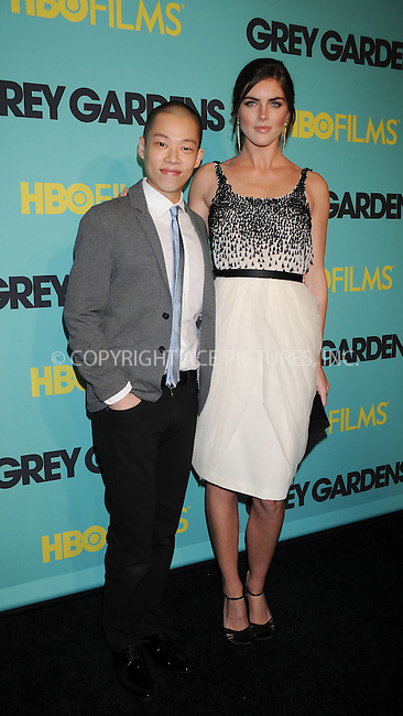 WWW.ACEPIXS.COM . . . . . ....April 14 2009, New York City....Designer Jason Wu and model Hilary Rhoda at the HBO Films premiere of 'Grey Gardens' at The Ziegfeld Theater on April 14, 2009 in New York City.....Please byline: KRISTIN CALLAHAN - ACEPIXS.COM.. . . . . . ..Ace Pictures, Inc:  ..tel: (212) 243 8787 or (646) 769 0430..e-mail: info@acepixs.com..web: http://www.acepixs.com
