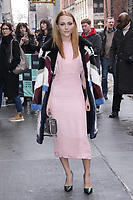 NEW YORK, NY - JANUARY 11:   AnnaSophia Robb arrives at BUILD SERIES on January 11, 2018 in New York City. <br /> CAP/MPI99<br /> &copy;MPI99/Capital Pictures