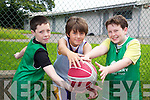 Pictured at the Team Kerry Basketball Camp on Tuesday were, l-r: Philip Corkery, Tristan Raymond and Colin McDade..