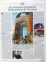 Le Figaro Guide (Supplement of the French newspaper Le Figaro)..2006/11/09..Poznan.Photos: Mariusz Forecki