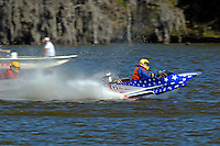 Frame 13: 1-US goes for a wild ride.   (outboard hydroplane)