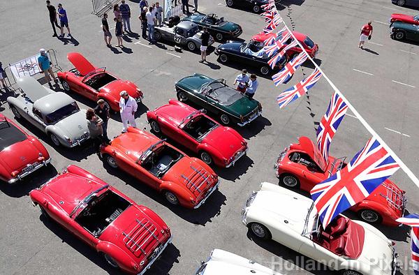 Nederland - Zandvoort - 8 juli 2018.    Het British Festival. Dit jaar staat het British Festival in het teken van de Grand Prix. Races op het Circuit van Zandvoort. MG auto's op de Paddock.     Foto Berlinda van Dam / Hollandse Hoogte