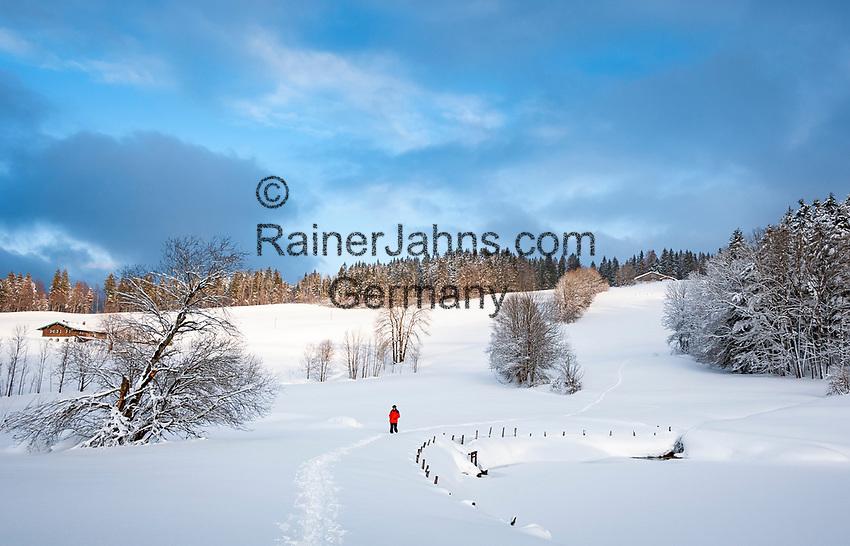Deutschland, Bayern, Chiemgau, Inzell: Winterlandschaft beim Ortsteil Einsiedl   Germany, Upper Bavaria, Chiemgau, Inzell: winter scene near district Einsiedl