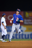 Midland RockHounds third baseman Matt Chapman (7) runs the bases on a Viosergy Rosa (not shown) home run during a game against the San Antonio Missions on April 22, 2016 at Nelson W. Wolff Municipal Stadium in San Antonio, Texas.  San Antonio defeated Midland 8-4.  (Mike Janes/Four Seam Images)