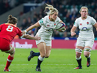 Rachael Burford in action, England Women v Canada Women in an Old Mutual Wealth Series, Autumn International match at Twickenham Stadium, London, England, on 26th November 2016. Full time score 39-6