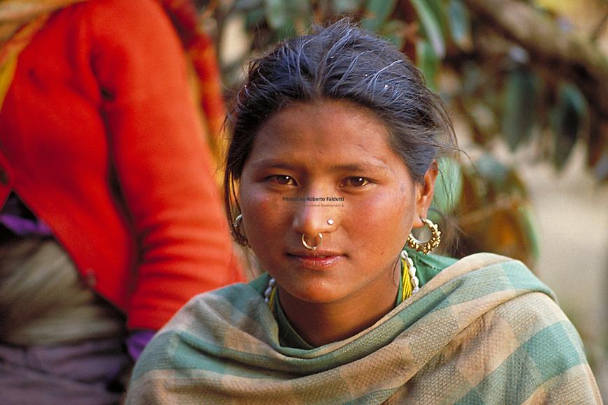 Portrait of youg Nepalis women