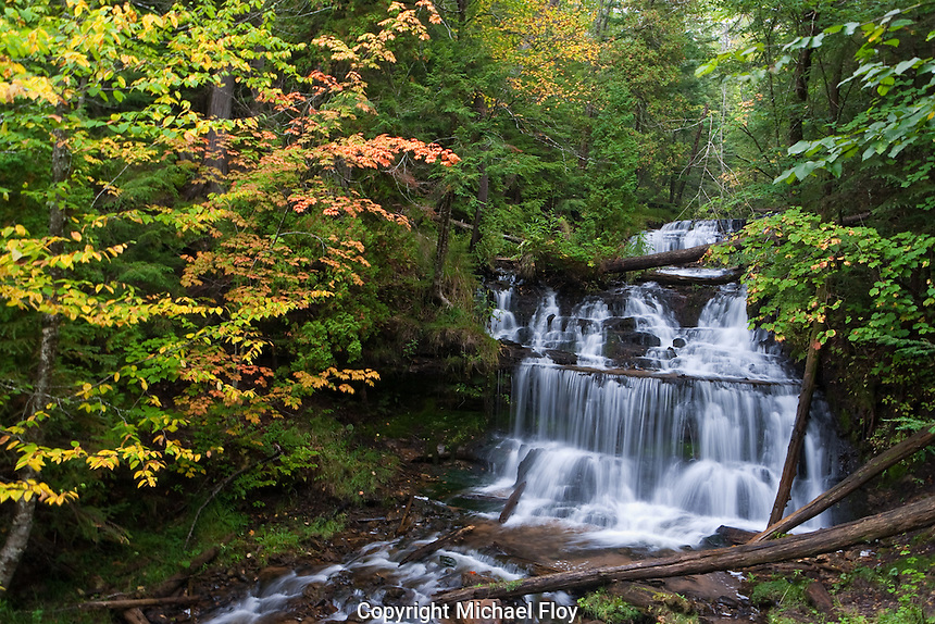 Wagner Falls is located in the Upper Pennisula near Musining Michigan.