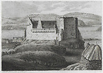 Engraving of Scottish landscapes and buildings from late eighteenth century, Dunvegan Castle,  Isle of Skye, Scotland, 1790 , drawn by S Hooper