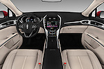 Stock photo of straight dashboard view of 2016 Lincoln MKZ - 4 Door Sedan Dashboard