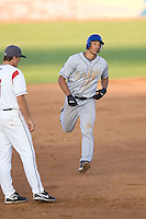 July 7, 2009: Tri-City Dust Devils' Jeremiah Sammy trots around the bases after hitting a home run during a Northwest League game against the Salem-Keizer Volcanoes at Volcanones Stadium in Salem, Oregon.  Sammy hit two home runs during the game.