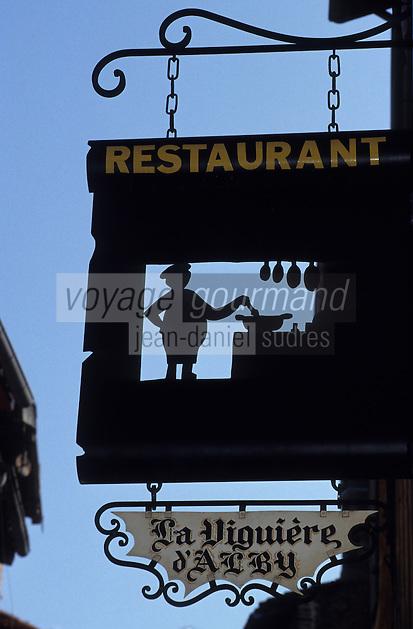 Europe/France/Midi-Pyrénées/81/Tarn/Albi: Enseigne d'un restaurant