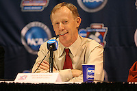 14 December 2006: Stanford Cardinal head coach John Dunning during Stanford's 30-12, 30-25, 30-15 win against the Washington Huskies in the 2006 NCAA Division I Women's Volleyball Final Four semifinal match at the Qwest Center in Omaha, NE.