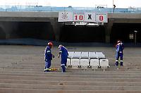 SÃO PAULO,SP,22 MAIO 2012 -  VISTORIA OBRAS ITAQUERÃO <br /> Funcionario trabalhão nas obras da Arena de Itaquera, na capital paulista.FOTO ALE VIANNA - BRAZIL PHOTO PRESS.