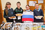Local dishes from Russia were enjoyed by children at Kilcummin National School Food Fair last Friday.  Pictured are some of the members of the Green School Committee who came up with the idea. ].L-R Emily Egan, Cathal Healy, Ciara Foran and Jacob Pogorzelska.