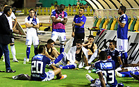 NEIVA- COLOMBIA, 03-11-2018:Millonarios quedó eliminado de los ocho finalistas ,al perder con Atlético Huila ,  durante partido por la fecha 18 de la Liga Águila II 2018 jugado en el estadio Guillermo Plazas Alcid de la ciudad de Neiva. / Millonarios was eliminated of the eight finalists when losing with Atletico Huila during the match for the date 18 of the Liga Aguila II 2018 played at the Guillermo Plazas Alcid Stadium in Neiva  city. Photo: VizzorImage / Sergio Reyes / Contribuidor.