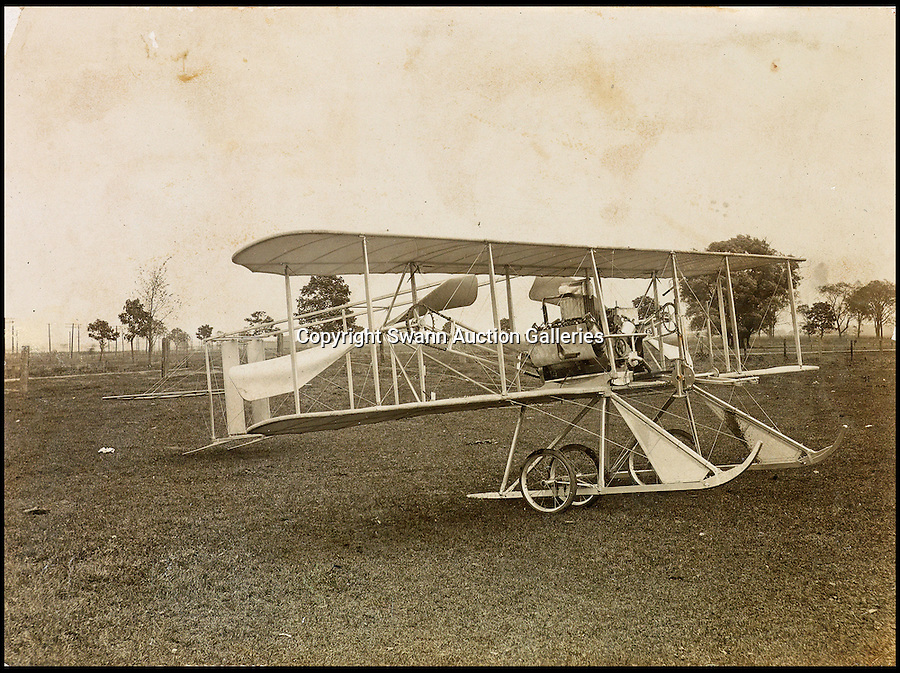 BNPS.co.uk (01202 558833)<br /> Pic: SwannAuctions/BNPS<br /> <br /> ***Please use full byline***<br /> <br /> The Wright brothers Model R plane, October 1910.<br /> <br /> A fascinating archive of previously unseen photographs documenting the Wright Brothers' pioneering advances in early flight has come to light.<br /> <br /> The black and white photos chart Wilbur and Orville Wright's work developing their rudimentary aircraft in the years following their historic first powered flight in 1903.<br /> <br /> The collection was compiled by aviation enthusiast Walt Burton, who bought two albums of photos of the Wright Brothers from Frank Hermes, a businessman who paid the pair to fly his freight around.<br /> <br /> It expected to fetch upwards of £20,000 when it goes under the hammer at Swann Auction Galleries.