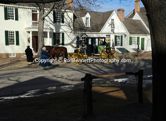 "Carriage and horses Colonial Williamsburg Virginia,  carriage, wagon, Colonial Williamsburg Virginia is historic district 1699 to 1780 which made colonial Virgnia's Capital, for most of the 18th century Williamsburg was the center of government education and culture in Colony of Virginia, George Washington, Thomas Jefferson, Patrick Henry, James Monroe, James Madison, George Wythe, Peyton Randolph, and others molded democracy in the Commonwealth of Virginia and the United States, Motto of Colonial Williamsburg is ""The furture may learn from the past,"""