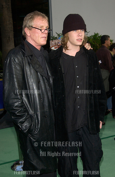 Actor NICK NOLTE & actor son BRAWLEY NOLTE at world premiere of Nick's new movie The Hulk at Universal Studios Hollywood..June 17, 2003.