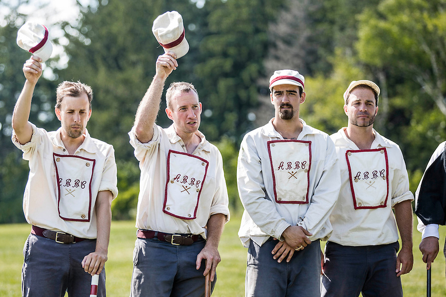 11th Annual Vintage Base Ball Festival with the Atlantic Base Ball Club of Brooklyn, the Milwaukee Cream Citys, the Milwaukee Grays, and the Champion Hilltoppers from Huntington Indiana