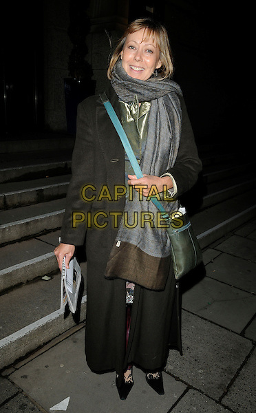JENNY AGUTTER (JENNIFER).The London Evening Standard British Film Awards 2010, The Movieum of London, County Hall, London, England..February 8th 2010.full length grey gray shawl wrap scarf black coat.CAP/CAN.©Can Nguyen/Capital Pictures.