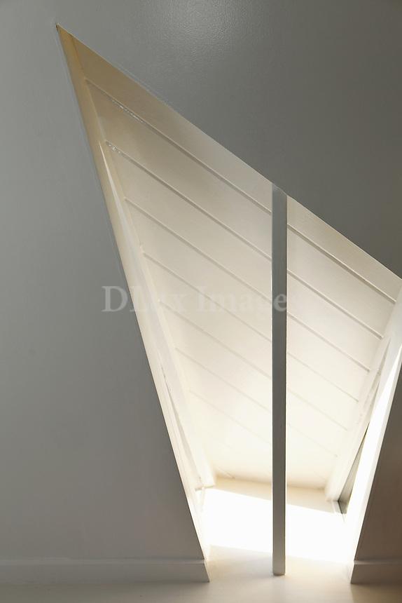 white wall paneling