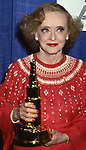 Bette Davis attends the 'American Movie Awards' at Chasen's Restaurant on March 15, 1082 in Los angeles, California.