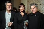 From left: Erick Ragni, Kelie Mayfield and Scott Strasser at the Art4Life kick-off party at the Barbara Davis Gallery Thursday Jan. 06,2011.(Dave Rossman/For the Chronicle)