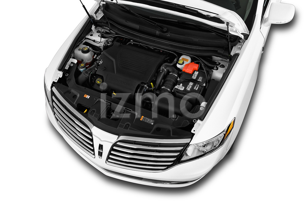 Car stock 2018 Lincoln MKT Reserve 5 Door SUV engine high angle detail view