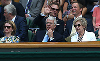Former prime minister Sir John Major<br /> <br /> Photographer Rob Newell/CameraSport<br /> <br /> Wimbledon Lawn Tennis Championships - Day 4 - Thursday 5th July 2018 -  All England Lawn Tennis and Croquet Club - Wimbledon - London - England<br /> <br /> World Copyright &not;&uml;&not;&copy; 2017 CameraSport. All rights reserved. 43 Linden Ave. Countesthorpe. Leicester. England. LE8 5PG - Tel: +44 (0) 116 277 4147 - admin@camerasport.com - www.camerasport.com