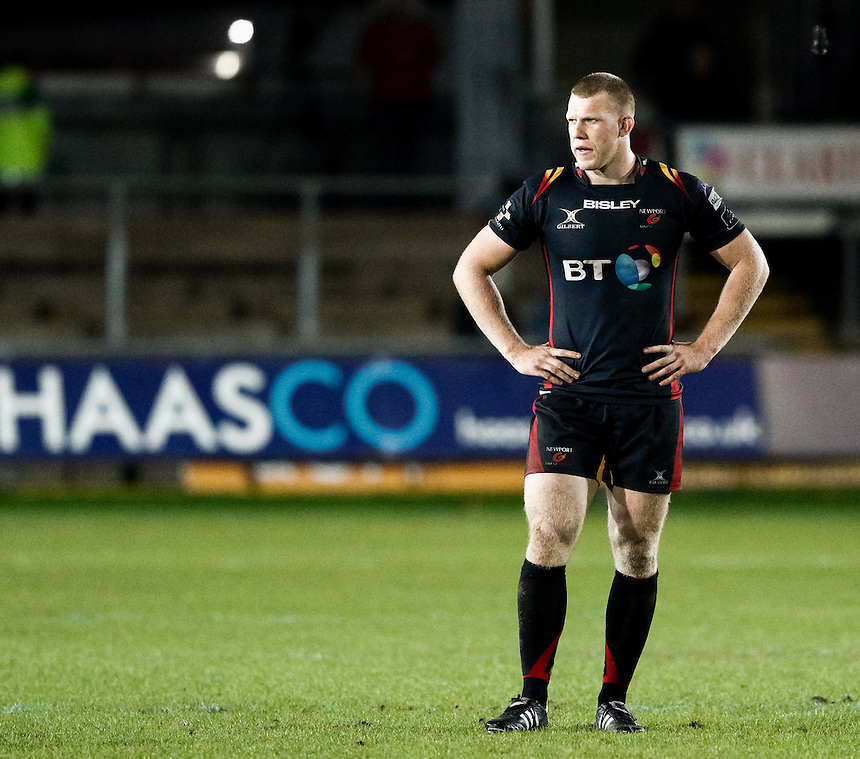 Jack Dixon of Newport Gwent Dragons<br /> <br /> Photographer Simon King/CameraSport<br /> <br /> Guinness PRO12 Round 5 - Newport Gwent Dragons v Glasgow Warriors - Friday 30th September 2016 - Rodney Parade - Newport<br /> <br /> World Copyright &copy; 2016 CameraSport. All rights reserved. 43 Linden Ave. Countesthorpe. Leicester. England. LE8 5PG - Tel: +44 (0) 116 277 4147 - admin@camerasport.com - www.camerasport.com