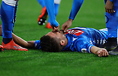 17th March 2019, Stadio San Paolo, Naples, Italy; Serie A football, Napoli versus Udinese; Dries Mertens of Napoli celebrates after scoring his goal in the 69th minute for 4-2