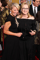 LOS ANGELES, CA - JANUARY 18: Emma Thompson, Meryl Streep at the 20th Annual Screen Actors Guild Awards held at The Shrine Auditorium on January 18, 2014 in Los Angeles, California. (Photo by Xavier Collin/Celebrity Monitor)