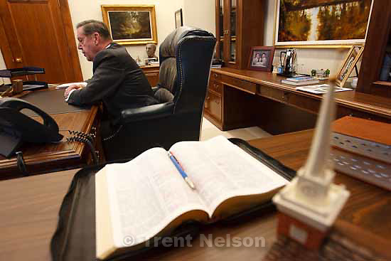 LDS apostle Elder Jeffrey R. Holland speaks about the LDS Church in Africa during an interview Wednesday, November 11 2009.