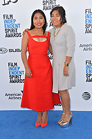 SANTA MONICA, CA. February 23, 2019: Yalitza Aparicio &amp; Nancy Garcia at the 2019 Film Independent Spirit Awards.<br /> Picture: Paul Smith/Featureflash