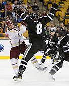 Steven Whitney (BC - 21), Barrett Kaib (PC - 8) - The Boston College Eagles defeated the Providence College Friars 4-2 in their Hockey East semi-final on Friday, March 16, 2012, at TD Garden in Boston, Massachusetts.