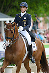 WIESBADEN, GERMANY - MAY 28: Dressage competition at the 76th international horse show held at the Schlosspark Biebrich at whitsun on May 28, 2012 in Wiesbaden, Germany. (Photo by Dirk Markgraf)