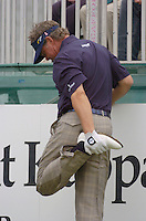 July 6th, 2006. Smurfit European Open, The K Club, Straffan, County Kildare..Darren Clarke limbers up at the above..Photo: BARRY CRONIN/Newsfile..(Photo credit should read BARRY CRONIN/NEWSFILE).