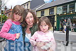 Bebhinn, Maire and Alailnhe Brosnan Kilcummin enjoying the sunshine in Main Street Killarney last Friday