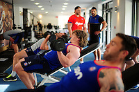 Nick Auterac of Bath Rugby in the gym. Bath Rugby pre-season training on June 21, 2016 at Farleigh House in Bath, England. Photo by: Patrick Khachfe / Onside Images