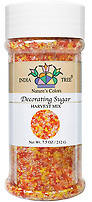 India Tree Nature's Colors natural Harvest Mix Decorating Sugar, India Tree Decorating Sugar, natural sprinkles made with natural food color from plant-based ingredients
