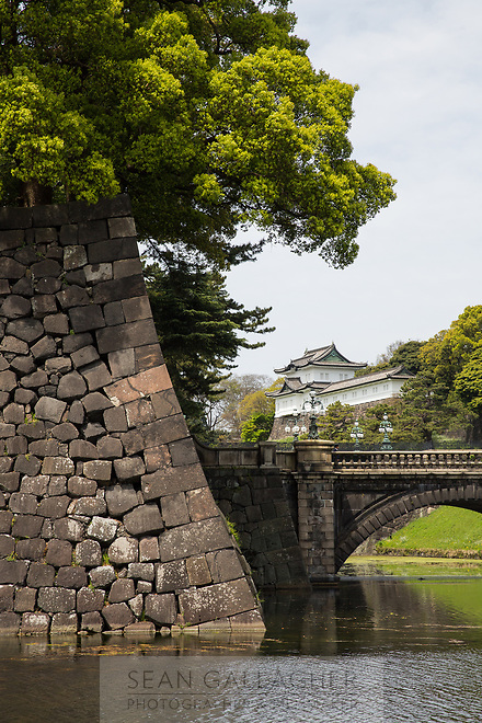 The Imperial Palace in Tokyo.