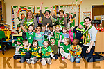 Children and Minders getting ready for Saint Patrick's Day at Shanakill FRC.