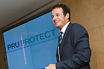 Austin Healey, former England Rugby player, addresses the Pruprotect launch party in London