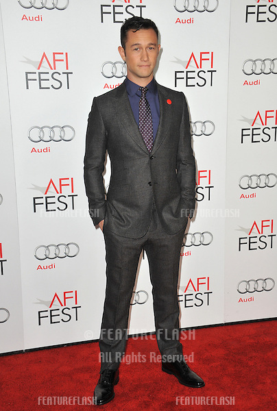 "Joseph Gordon-Levitt at the AFI Fest premiere of his movie ""Lincoln"" at Grauman's Chinese Theatre, Hollywood..November 8, 2012  Los Angeles, CA.Picture: Paul Smith / Featureflash"