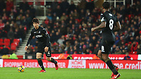 STOKE, ENGLAND - DECEMBER 2: Ki Sung-yueng of Swansea City and Leroy Fer during the Premier League match between Stoke City and Swansea City at the bet365 Stadium on December 2, 2017 in Stoke, England. (Photo by Athena Pictures/Getty Images)