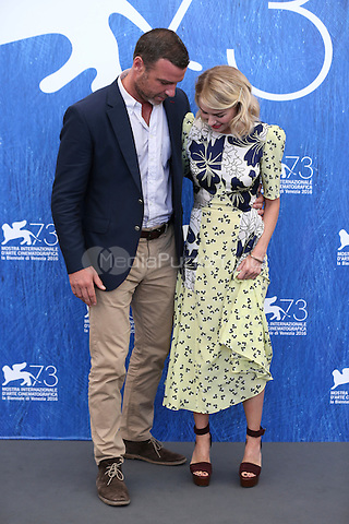 Liev Schreiber, Naomi Watts attends a photocall for 'The Bleeder' during the 73rd Venice Film Festival at Palazzo del Casino on September 2, 2016 in Venice, Italy.<br /> CAP/GOL<br /> &copy;GOL/Capital Pictures /MediaPunch ***NORTH AND SOUTH AMERICAS ONLY***