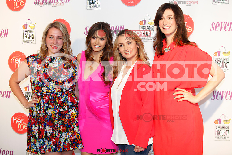 """The Vampire Diaries' award winning actress Nina Dobrev unveils a new """"got milk?"""" ad campaign aimed at celebrating the influence of role models. New York City, May 10, 2012. © Diego Corredor/MediaPunch Inc."""